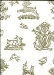 Celia Birtwell Classics Beasties Royal CBW173 Wallpaper By Blendworth